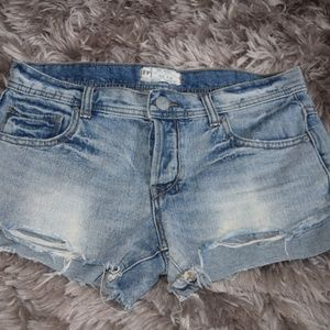 Free People | Distressed Cut Off Denim Shorts